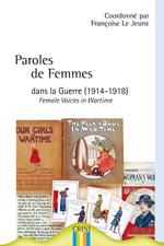 1ere de couv Paroles de femmes dans la guerre (1914-1918)