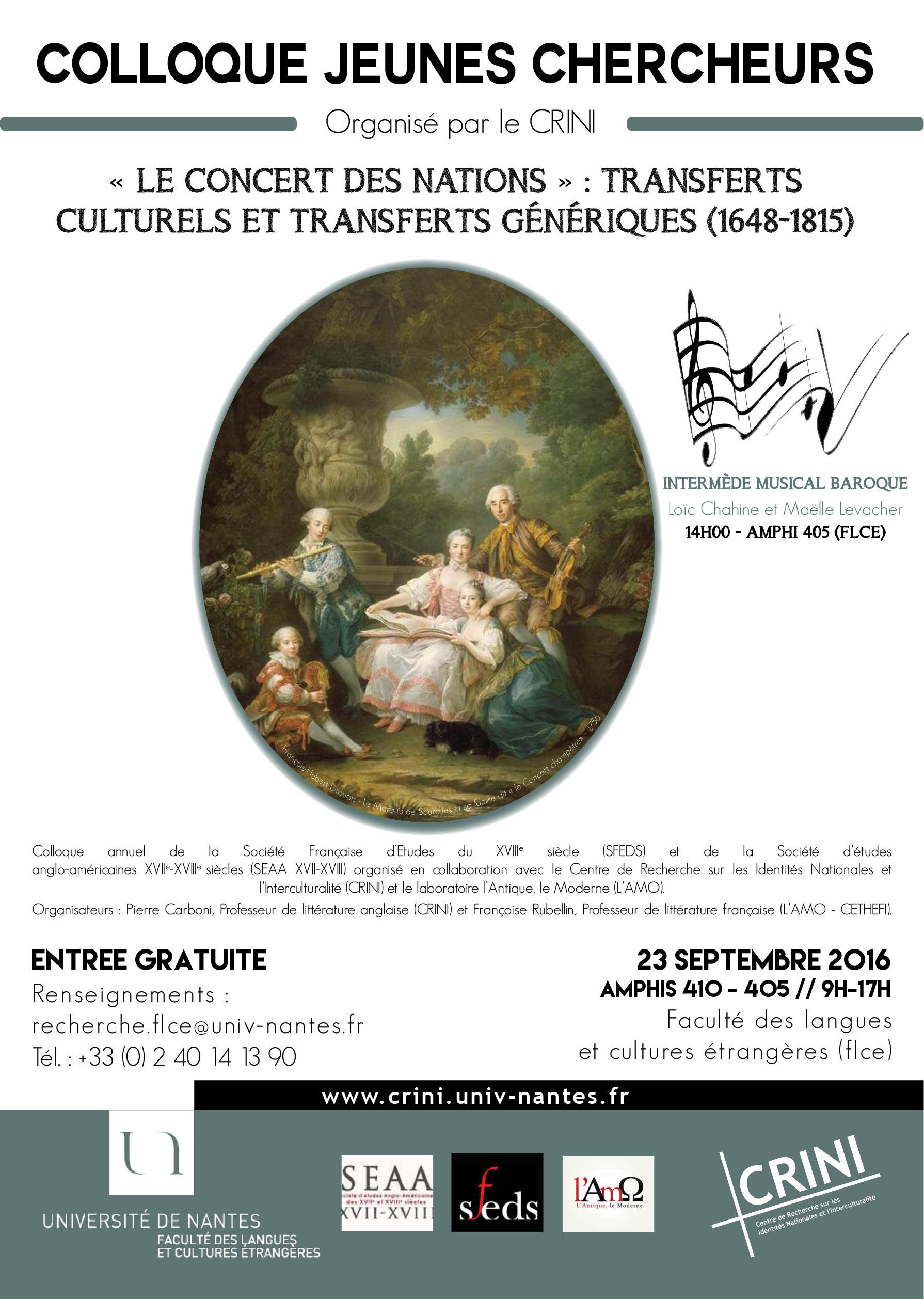 Colloque Jeunes Chercheurs - 23 septembre 2016