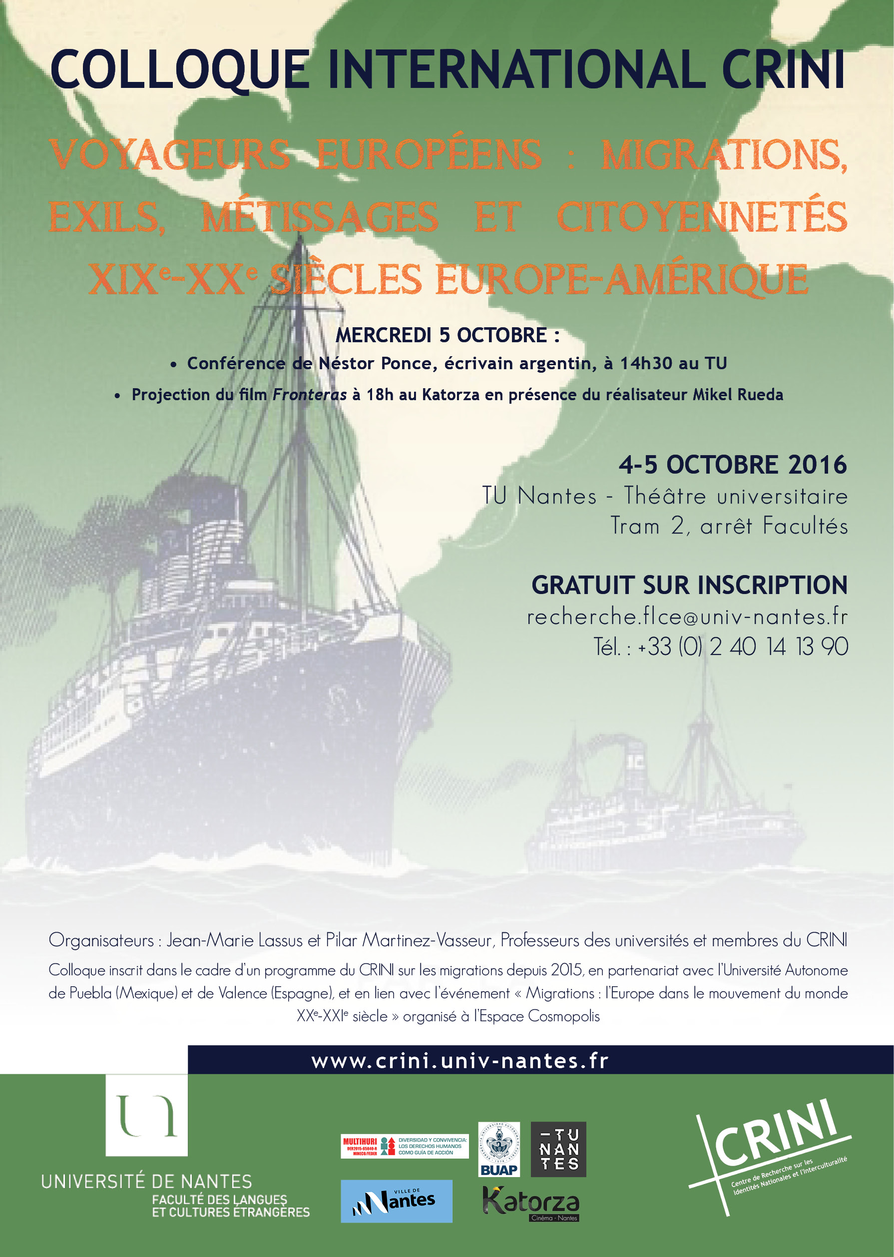 Affiche colloque Migrations