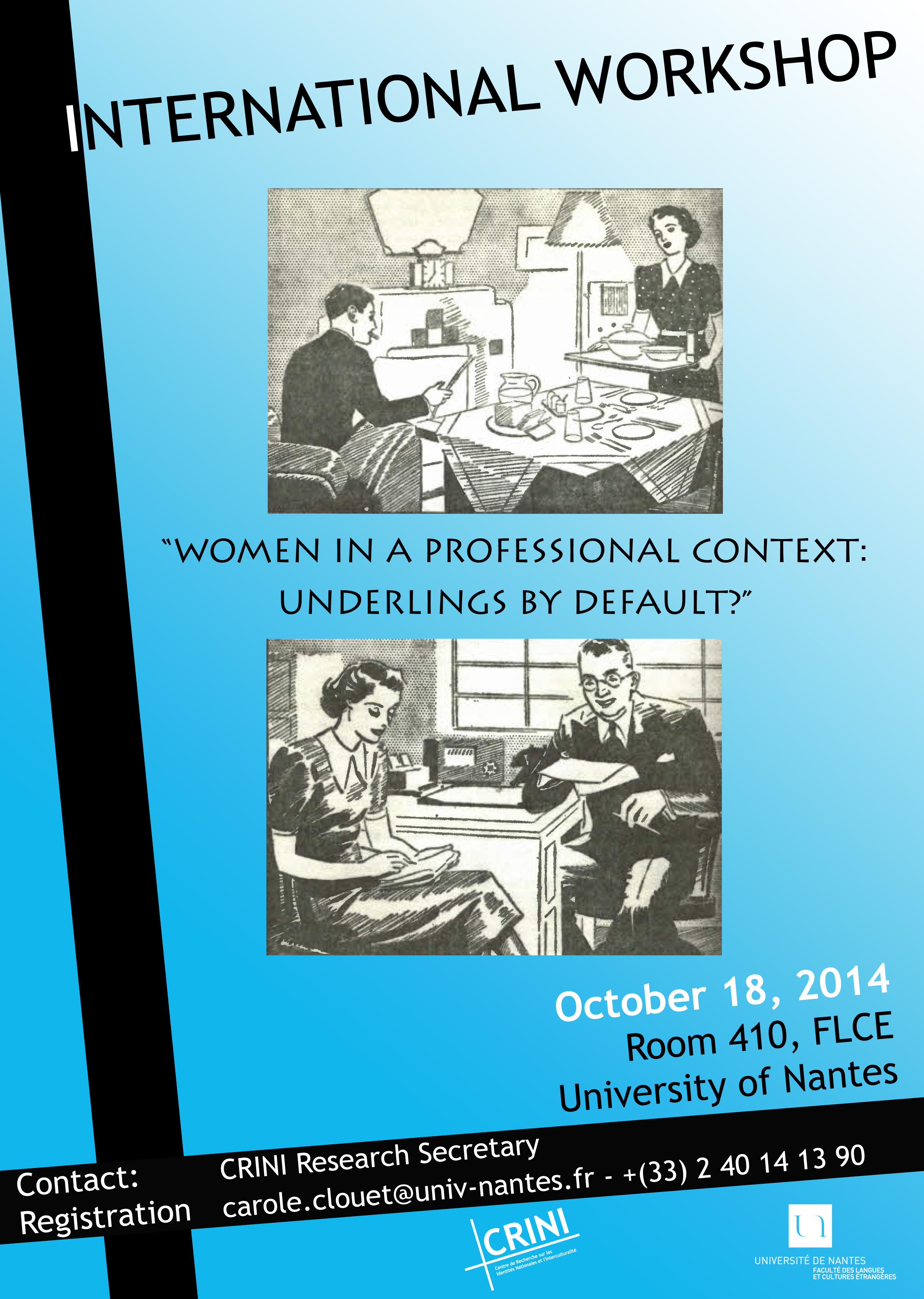 International workshop 18 octobre 2014
