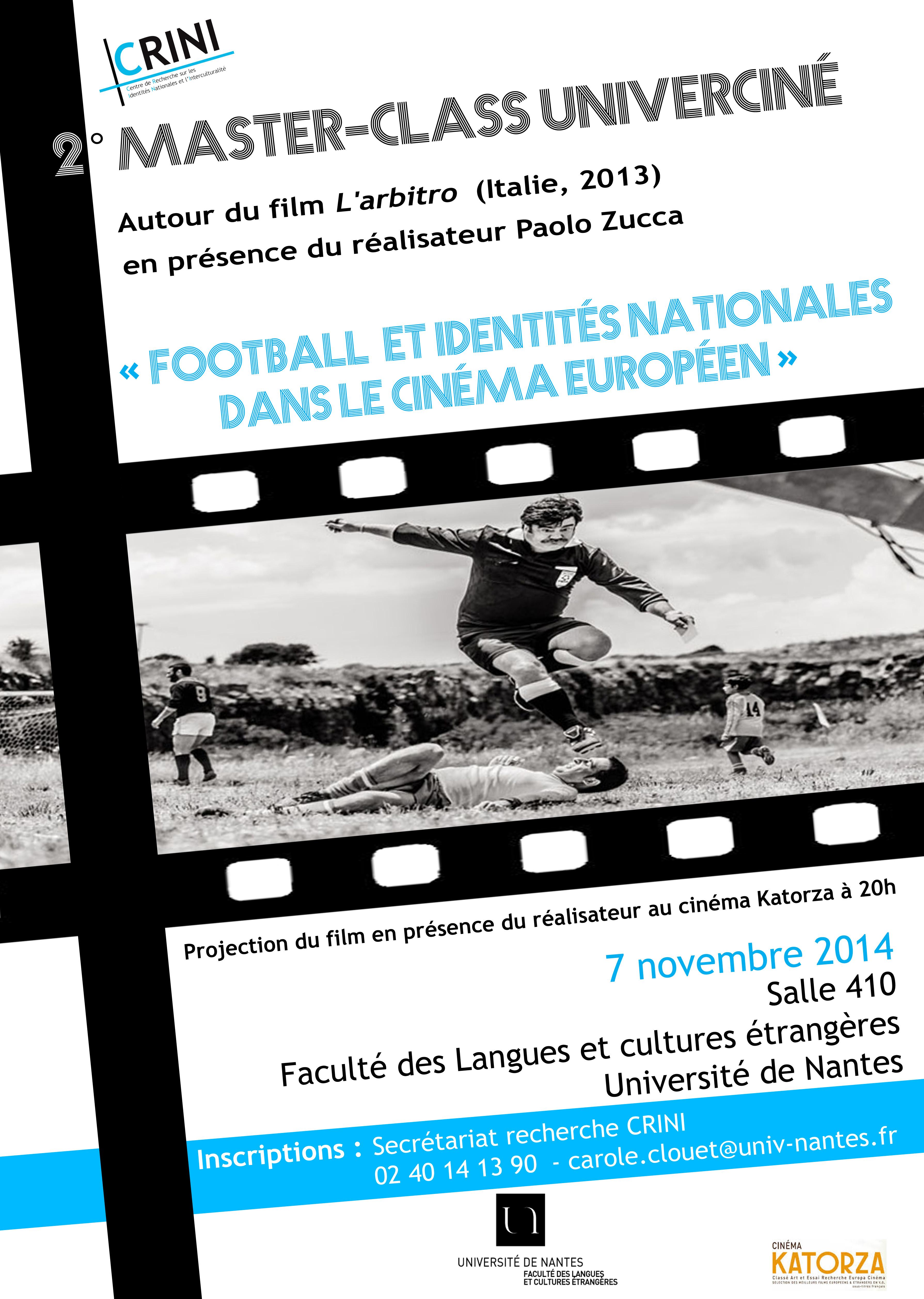 2e master-class Univerciné « Football et identités nationales dans le cinéma européen »