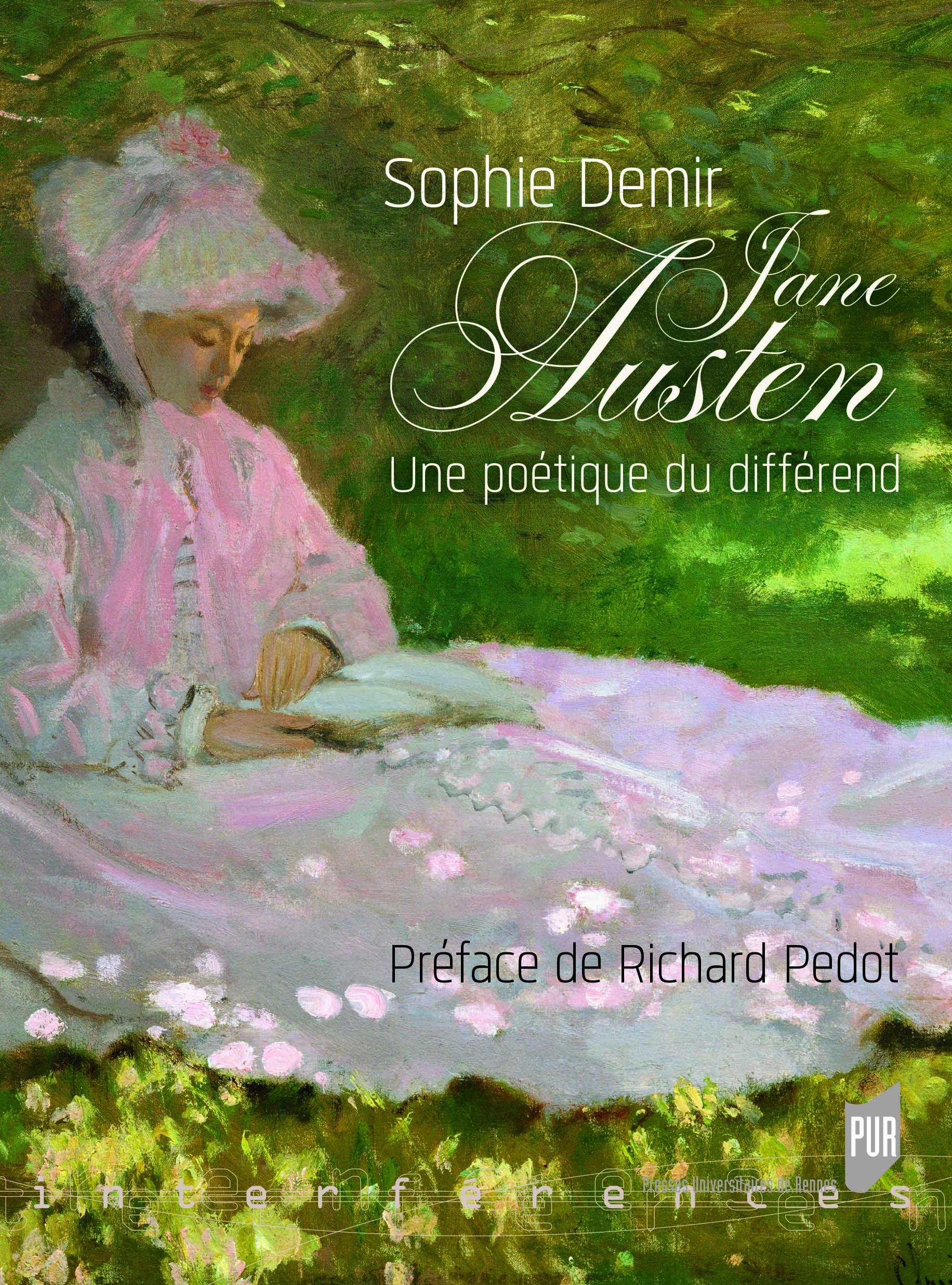 Couverture ouvrage de Sophie Demir : Jane Austen, Une poétique du différend