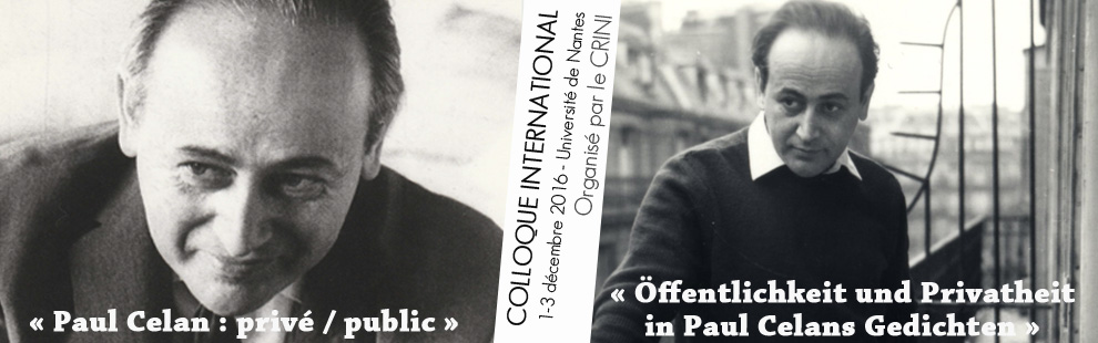 Colloque Paul Celan