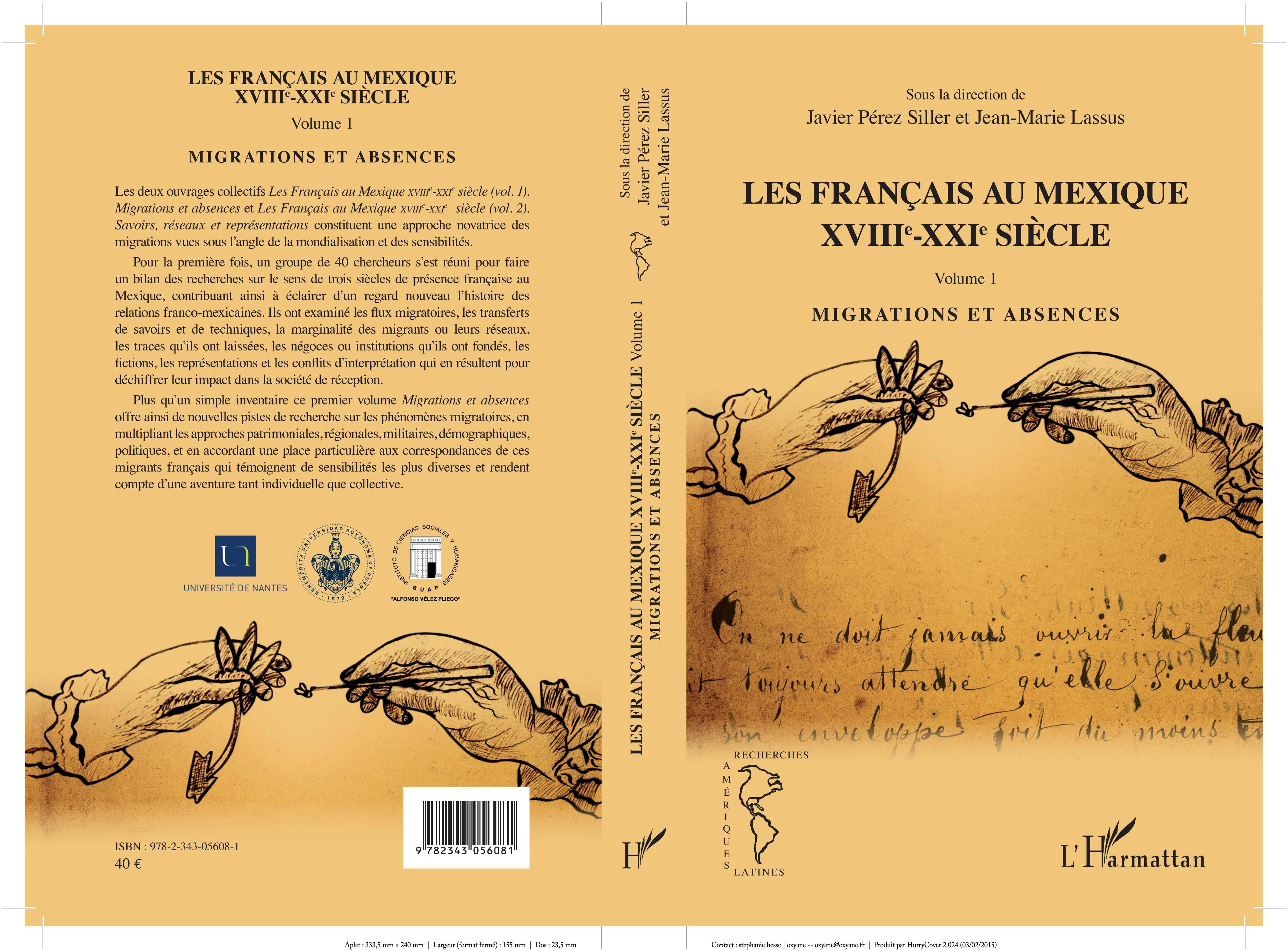 Publication de l'ouvrage Les Français au Mexique XVIIIe-XXIe siècle