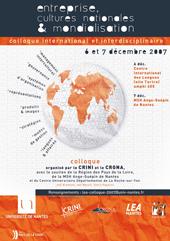 Visuel Colloque Entreprise, cultures nationales et mondialisation
